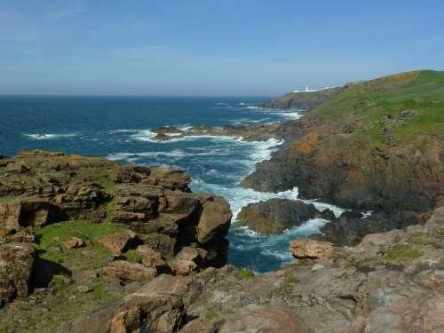 Coast Cliff Sea Ocean Water Coastline Rock