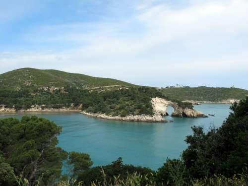 Coast Gargano Bay Italy