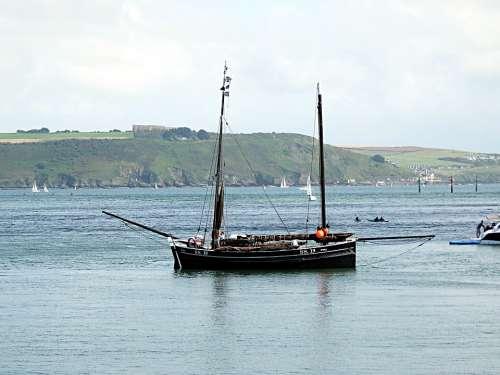 Coastal Scene Boating Boats Estuary Nature Sailing