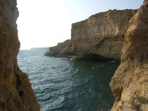 Coastline Portugal Rocks Coast Nature Water Ocean