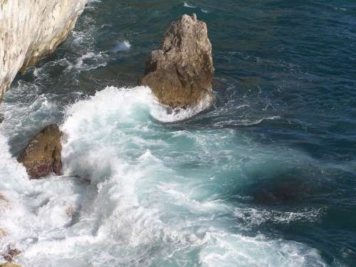 Coastline Amalfi Sea Rocks Italy Mediterranean