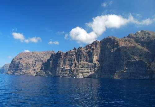 Coastline Tenerife Los Gigantes Cliffs Canary