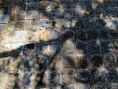 Cobblestones Roadway Bricks Stone Surface Texture