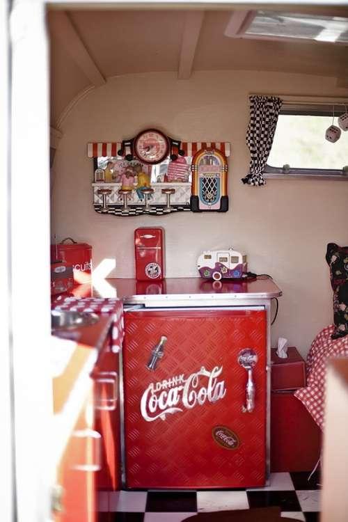 Coca Cola Rv Refrigerator Vintage Car Classic