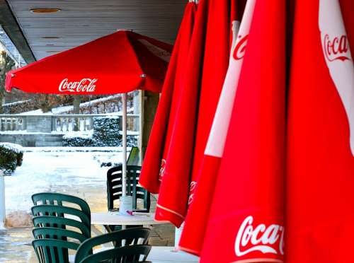 Coca Cola Coke Sunshades Parasols Advertising