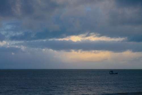Cockboat Boat Mar Ocean Landscape Brazil
