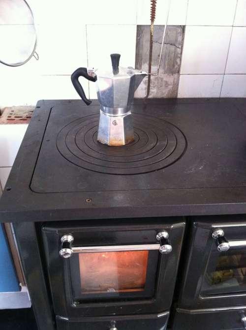 Coffee Kok Fireplace Kitchen Old Heat