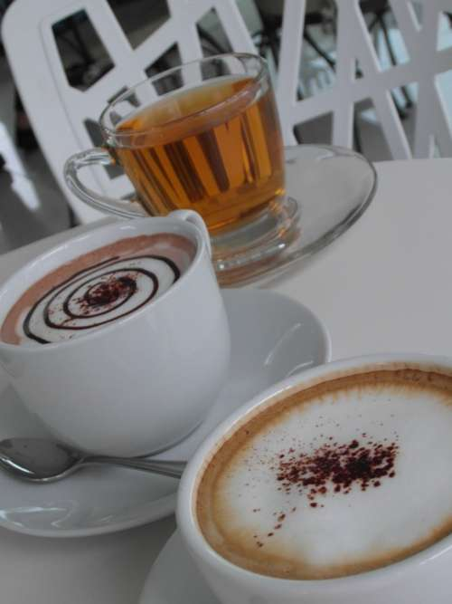 Coffee Latte Hot Beverages Green Tea Health