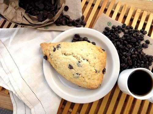 Coffee Scone Breakfast Dessert Comfort Saturday