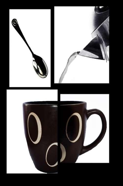 Coffee Drink Tea Hot Pot Water Pot Spoon