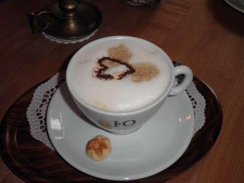 Coffee Cup Café Au Lait Biscuit Ornament Beverages