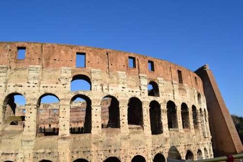 Coliseum Rome Italy Arches Arcades
