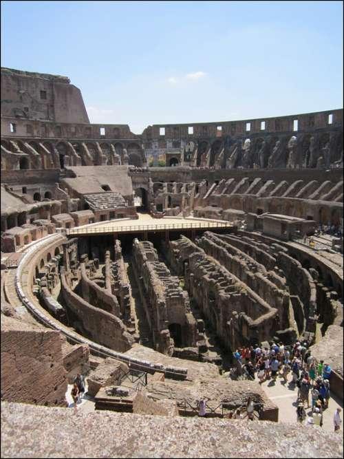Colloseum Rome Italy Roman History Arena Romans