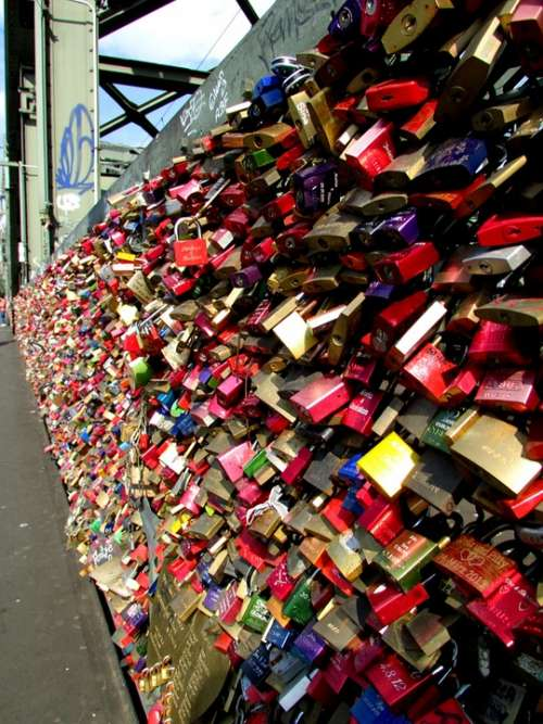 Cologne Bridge Love Locks Railway Bridge