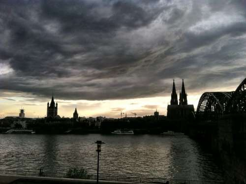 Cologne Dusk Sunset Architecture Church Germany