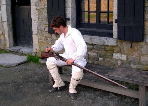 Colonial Ticonderoga Soldier History Rifle Gun