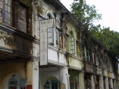 Colonial Houses Malaysia Malacca Melaka
