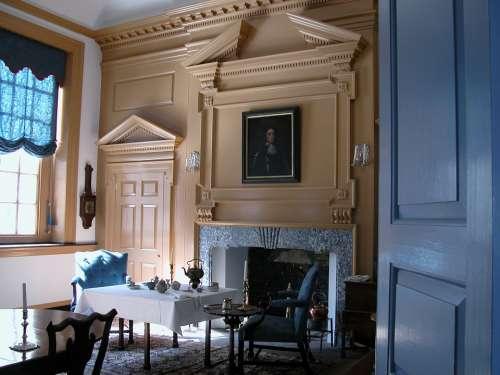 Colonial Room Philadelphia Congress Blue House