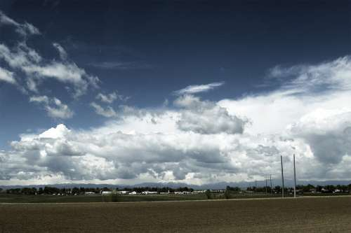 Colorado Usa Landscape Thunderstorm Clouds Nature