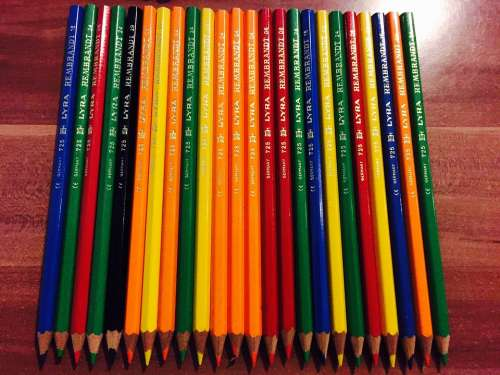 Colored Pencils Color Colorful Draw Crayons Art