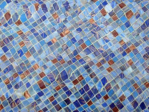 Colorful Mosaic Background Flowing Water Texture