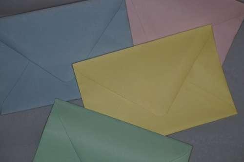 Colorful Pastel Pastellfarben Envelopes Letters