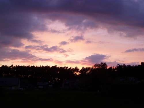 Colorful Sunset Sun Sunset Yellow Orange Blue