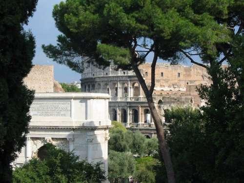Colosseum Rome Italy Romans Forum Antiquity