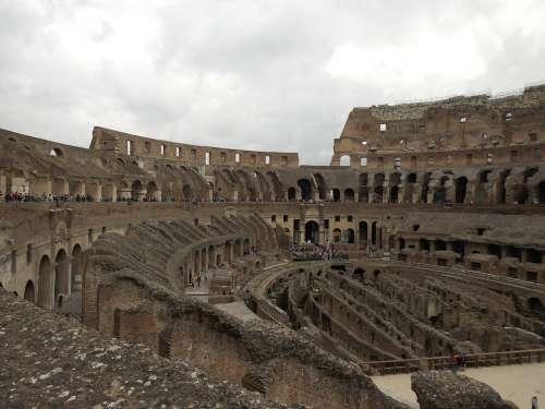 Colosseum Amphitheater Arena Gladiators Rome Italy