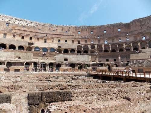 Colosseum Rome Italy Architecture Amphitheatre