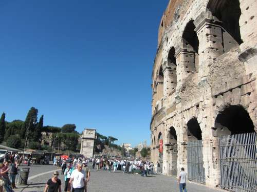Colosseum Rome Italy Roman Building Romans Old