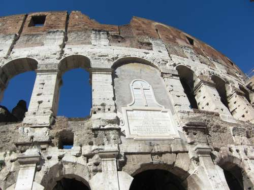 Colosseum Rome Italy Roman Building Romans Old