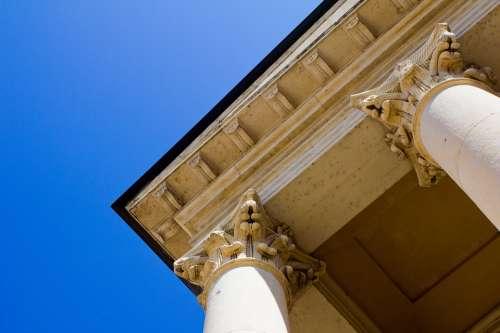 Columnar Temple Church Building Facade Structure