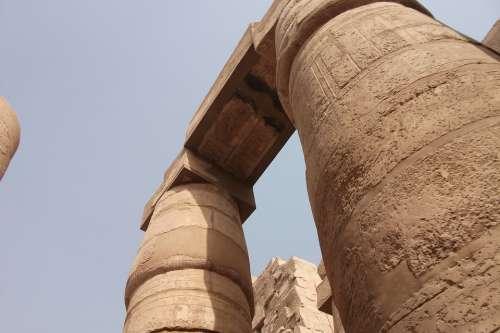 Columnar Temple Egypt Luxor Places Of Interest
