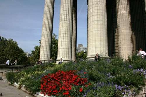 Columns Church Madeleine Paris