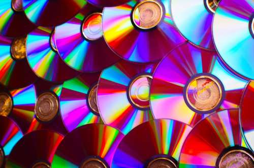 Compact Dvd Music Film Background Recording Data