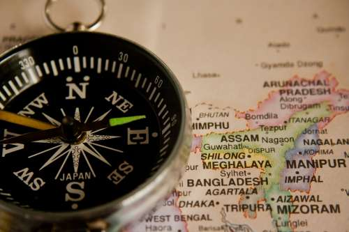 Compass Navigation Map Direction Travel Journey