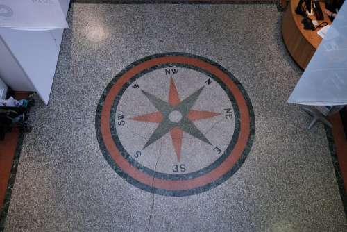 Compass Points Of The Compass Estrazzo Floor