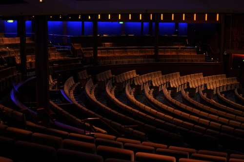 Concert Hall Chairs Dark Furniture Hall Indoors