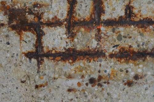 Concrete Betonrot Iron Rust