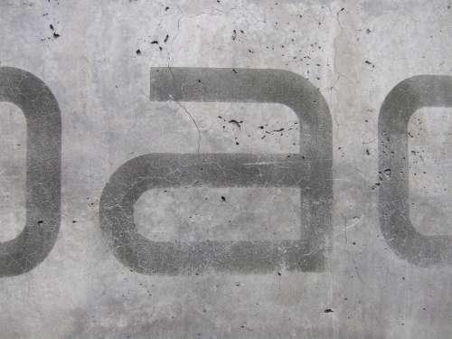 Concrete Urban Trist Grey Font Imprint