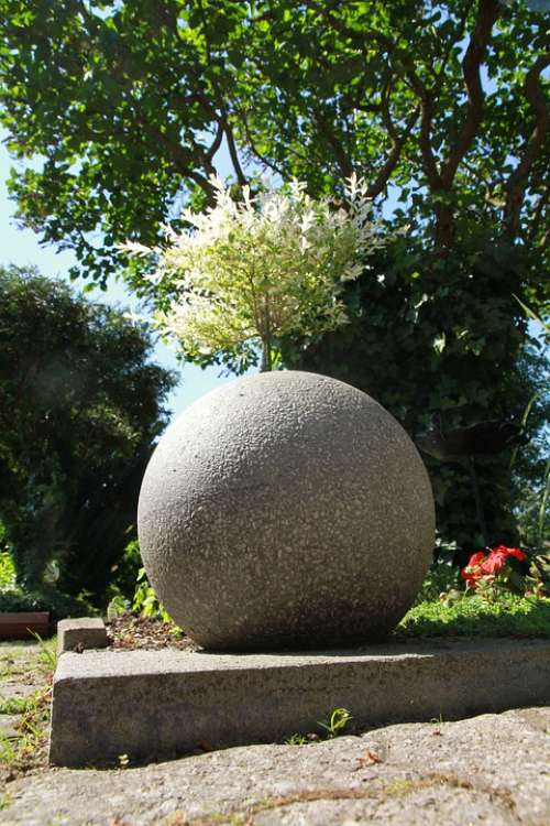 Concrete Spheres Garden Concrete