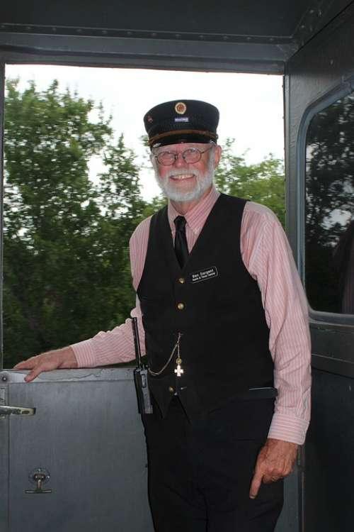 Conductor Railroad Railway Train Man Old Historic