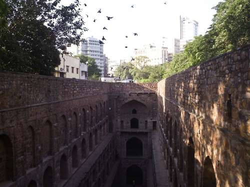 Connaught Place Medieval Architecture Stepwell City
