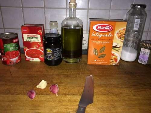 Cook Kitchen Cutting Board Ingredients