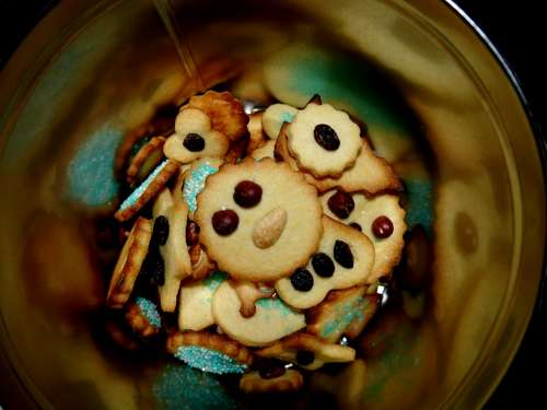 Cookies Christmas Cookies Box Gold Black Tin Can