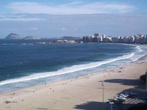 Copacabana Beach Rio De Janeiro Beach Tourist