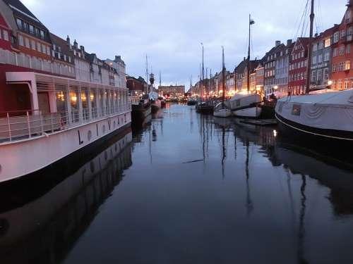 Copenhagen Denmark Nyhavn Port Sailing Ships