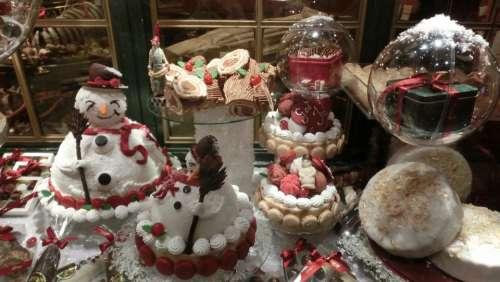 Copenhagen Denmark Bakery Christmas Window Cookie