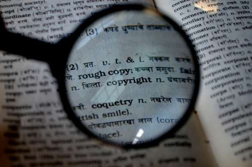 Copyright Magnifier Magnifying Glass Loupe Book
